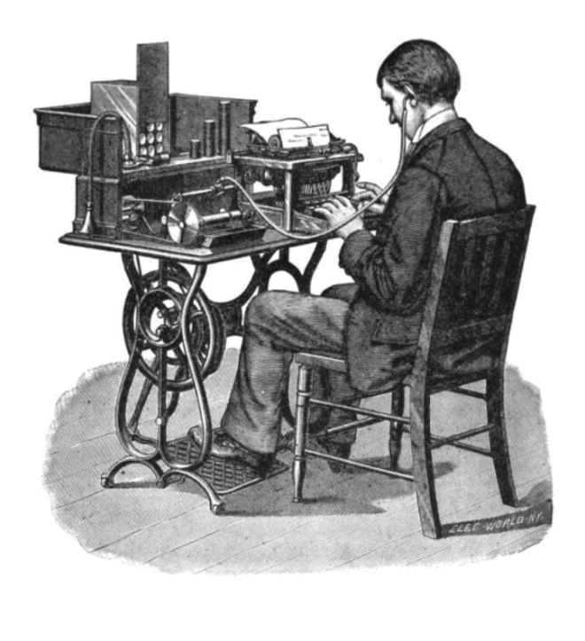 Transcription_using_cylinder_phonograph