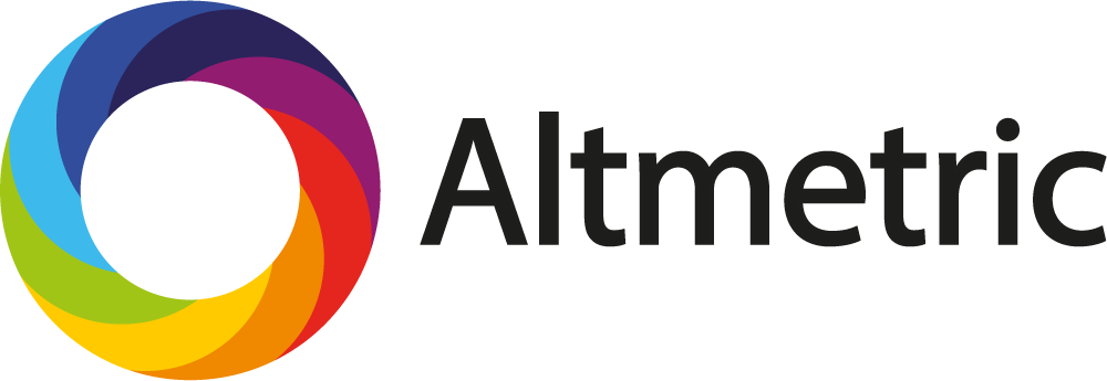 logo for Altmetric, rainbow coloured wheel