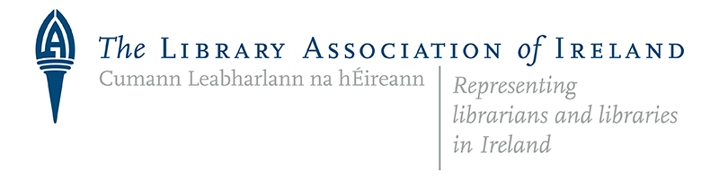 library association of ireland logo. slogan reads: representing librarians and libraries in ireland